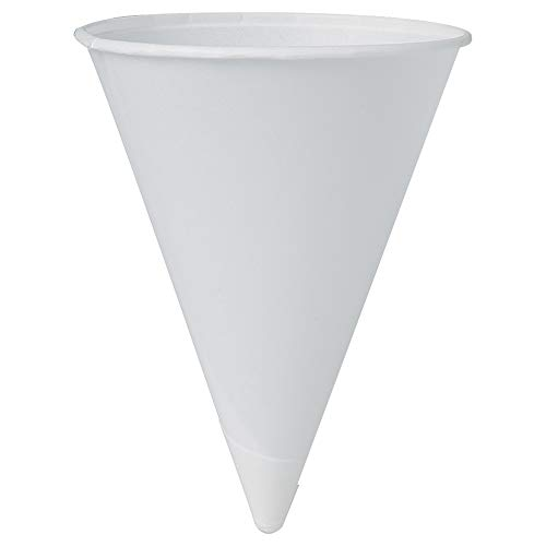 Solo 42R-2050 4.25 oz White Paper Cone Cups (Case of 5000)