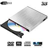 Blu Ray 3D 4K External DVD Drive USB 3.0 Burner,Slim Bluray CD DVD...