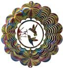 Stainless Steel Double Hummingbird 12 Inch Wind Spinner, Multi-Color 1