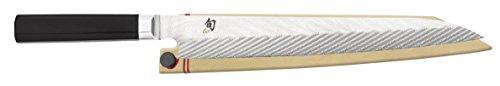 Shun Dual Core VG0020 10.5-inch Yanagiba with Saya, Silver by Shun