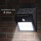 Dressffe 20 LED Solar Power PIR Motion Sensor Wall Light Outdoor Garden Waterproof Lamp
