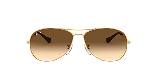 Ray-Ban RB3362 Cockpit Aviator Sunglasses, Gold/Brown Gradient, 59 mm (Preis Ray-ban)