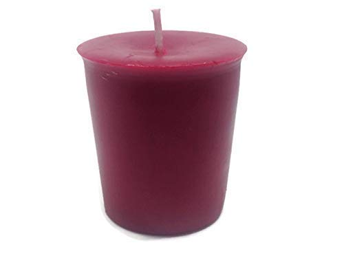 100% Raw Red Organic Beeswax Votive Candle 12 - Votive Bear