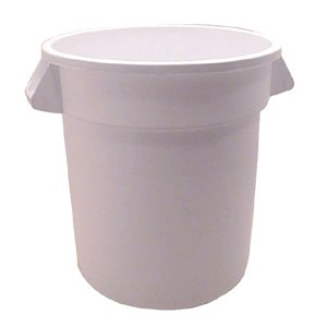 CONTAINER BRUTE WH 10 GAL, EA, 10-0336 RUBBERMAID COMMERCIAL WASTE (10 Gallon Brute Round Container)