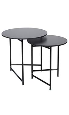 (SSWBasics Nesting Tables - Round - Black (Display Tables))