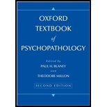 Oxford Textbook of Psychopathology by Blaney, Paul H, Millon, Theodore. (Oxford University Press, USA,2008) [Hardcover] 2ND EDITION