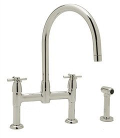 rohl country kitchen bridge faucet rohl u 4272x pn 2 perrin and rowe bridge kitchen faucet 25593