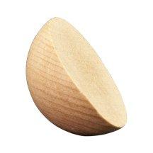 100 Pcs, 2-1/2'' Split Wood Balls - 1-1/4'' Thick