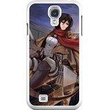 HD Exquisite image For Samsung Galaxy S4 9500 Cell Phone Case White mikasa ackerman attack on titan (Mikasa Mobile)