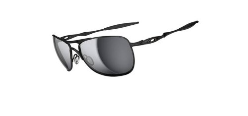 Oakley Men's OO4060 Crosshair Aviator Metal Sunglasses, Matte Black/Black Iridium, 61 mm (Oakley Crosshair)