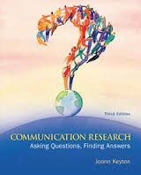 Communication Research: Asking Questions, Finding Answers Third Edition