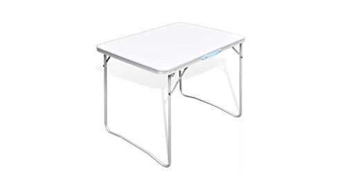 K&A Company Table Camping Foldable with Metal Frame 31.5''x23.6'' by K&A Company