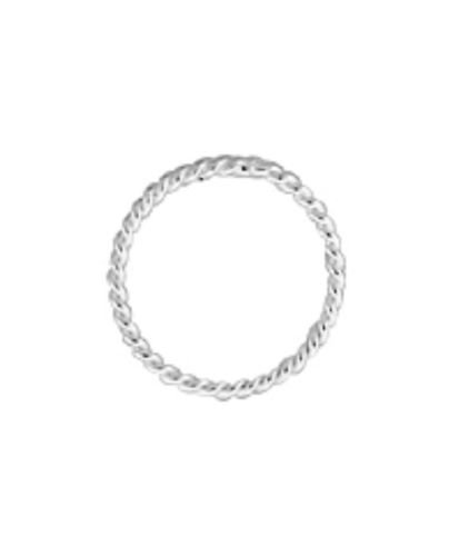 (925 Sterling Silver 10mm Closed Twisted Jump Rings 15 pcs)