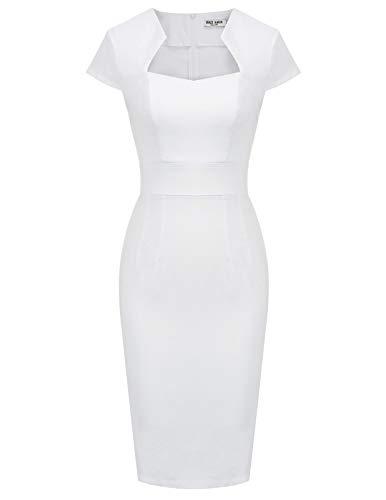 Women's 50s Vintage Pencil Dress Cap Sleeve Wiggle Dress