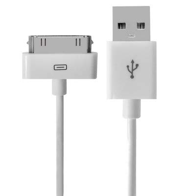 RENXIANG USB Sync and Charging Cable USB Data Cable for New iPad (iPad 3) / iPad 2/ iPad, iPhone 4 & 4S, iPhone 3GS/3G, iPod Touch, Length: 1m (New)(White) ()