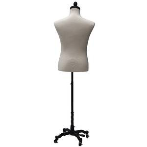 Male Coat Form w/ Neck Block and Wheeled Base, Black by Retail Resource (Image #3)