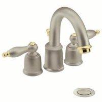 Moen T4945st Castleby Two Handle Bath Faucet Trim Kit Satine Polished Brass Bathroom Sink