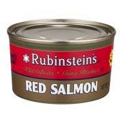 Sockeye Red Salmon - Rubinstein's Wild Alaskan Red Salmon (Pack of 4) 7.5 oz Cans