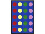 Joy Carpets Kid Essentials Early Childhood Lots of Dots Rug, Multicolored, 7'8'' x 10'9''
