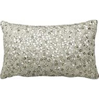 Silver Sequin Bling Print Throw Pillows 50% Cotton 50% Polyester 20 x 30 inches Pillowcase