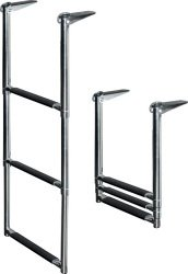 2 Step Under Platform Telescoping Drop Ladder, Stainless 316 - Jif Marine