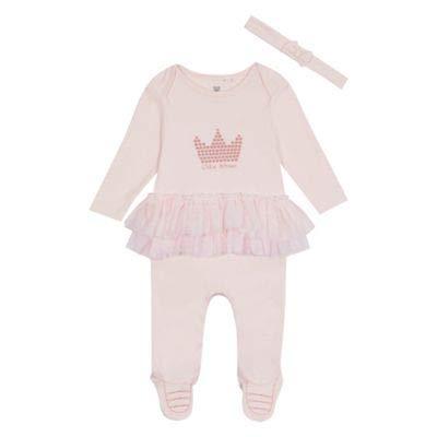 bluezoo Kids Baby Girls' Pink 'Little Princess' Sleepsuit