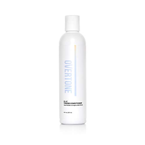 oVertone Haircare Blue Toning Conditioner | Neutralizes Brassiness & Orange Undertones in Blonde to Light Brown Hair | With Coconut Oil & Shea Butter| Safe for All Hair Types | Vegan, Cruelty-Free