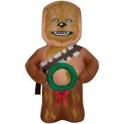 chewbacca christmas inflatable star wars lawn decoration new 5 ft airblown inflatable by gemmy