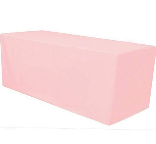 Mikash 8 ft. Fitted Polyester Tablecloth Table Cover Wedding Banquet Party Pink | Model TBLCLTH - 76 ()