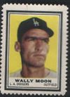 1962 Topps Stamps (Baseball) Card# 116 wally moon of the Los Angeles Dodgers ExMt Condition from Topps