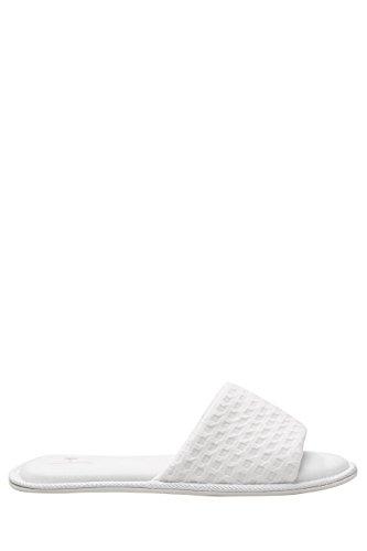 next Mujer Pantuflas abiertas texturizadas Corte Regular Blanco