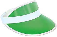 Plastic Visor (Clear Green Plastic Dealer's Visor Party Accessory (1 count))