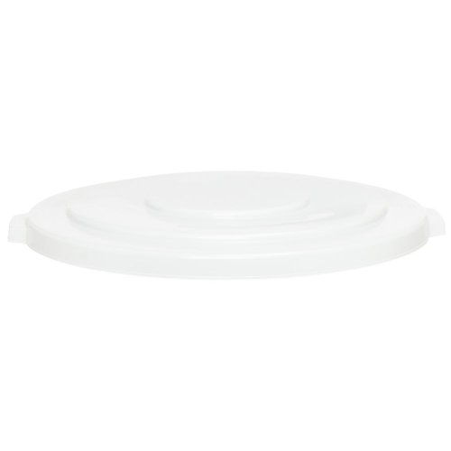 Continental 3201WH 32-Gallon Huskee LLDPE Waste Lid, Round, White Continental Round Huskee Container