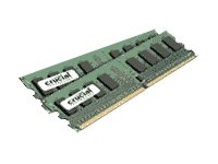 Crucial 2GB Kit (1GBx2) DDR2 667MHz (PC2-5300) CL5 Unbuffered UDIMM 240-Pin Desktop Memory Modules CT2KIT12864AA667