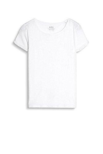edc by Esprit 037cc1k012, Camisa Manga Larga para Mujer Blanco (White)