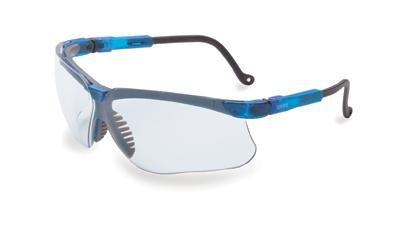 Uvex S3240 Genesis Safety Glasses Eyewear Vapor Blue Frame Clear Lens, 1 Pair by Honeywell