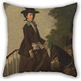 Artistdecor 18 X 18 Inches / 45 By 45 Cm Oil Painting Henry Walton - Elizabeth Bridgman, Sister Of The Artist Cushion Covers,double Sides Is Fit For Dinning Room,monther,living Room,divan,festival
