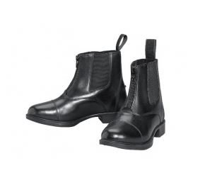 Devon Aire Lakeridge Sz. 2 Kids Zip Leather Like Paddock Boots Black