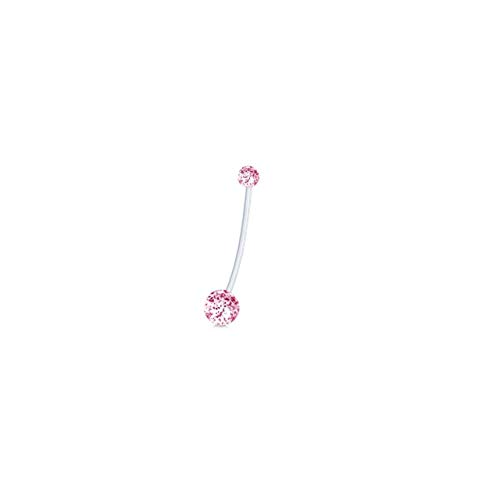 (NeanTak Surgical Steel Dangle Navel Rings Pregnant Woman Navel Bars Fashion Belly Button Ring Piercing Body Jewelry)