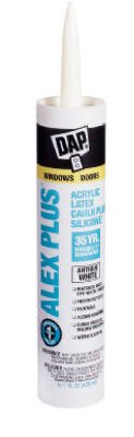 Dap 18172 Alex Plus Acrylic Latex Caulk, Antique White, 10.1-oz. - Quantity 12 by DAP