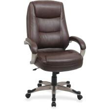 Lorell High-Back Executive Chair, 26-1/2 by 28-1/2 by 46-1/2-Inch, Saddle/Leather