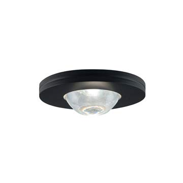 JESCO Lighting PK503BK Straight-edged Slim Disk with Frosted Glass - Slim Edged Disk