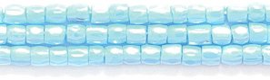 (Preciosa Ornela Czech 3-Cut Style Seed Glass Bead, Size 9/0, Luster Opaque Turquoise Blue)