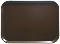 Brown Rectangular Camtray Fiberglass - Camtray, Rectangular, 4-1/4'' X 6'', High-Impact Fiberglass W/Aluminum Reinforced Edges, Color (12 Pieces/Unit)