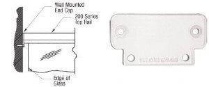 CRL Sky White 200 Series Wall Mount End Cap - 2WECW ()