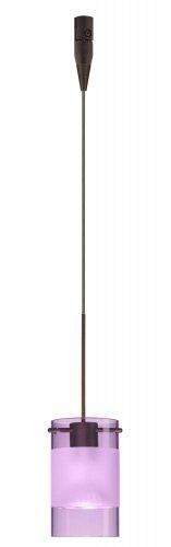 (Besa Lighting RXP-6524EA-BR 1X50W MR16 Scope Pendant with Amethyst/Frost Glass, Bronze Finish)