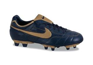 info for 28e04 762fc Nike – NIKE AIR LEGEND FG Scarpini Calcio Uomo Blu Pelle 310113 Dunkelblau  Gold Size