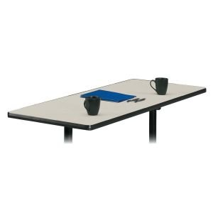 Basyx Rectangular Table Top, No Grommets, 60 by 24-Inch, Light Gray ()