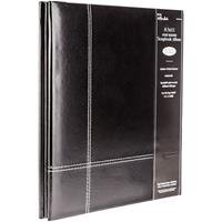 8 12 X 11 Black Leather Post Bound Album Home Décor Products