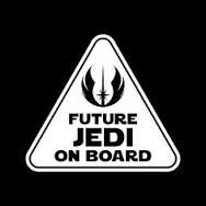 White Beluga Single (Future Jedi On Board Star Wars Baby Vinyl Decal Sticker|WHITE|Cars Trucks Vans SUV|5